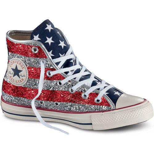 Converse Scarpe Sneakers Donna 556818C StarsBars Glitter Pe 17 Multicolore Sneakers Alte Classica  1743